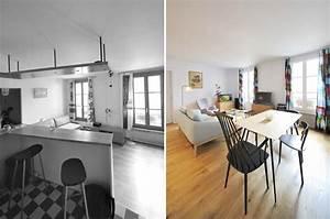 avant apres reorganisation d39un appartement 2 pieces With relooking interieur avant apres