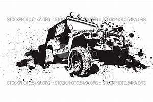 Vector Graphics Off-Road 4×4 - Vector Art Graphics - 54ka