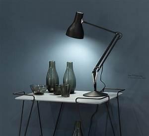 Anglepoise Type 75 : lampe de bureau type 75 noir h57cm anglepoise luminaires nedgis ~ Markanthonyermac.com Haus und Dekorationen