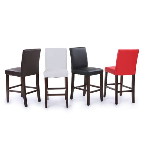 set of 2 4 6 8 leather bar stools dining chairs high back