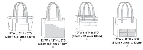Butterick 6148 Tote Bags Sewing Pattern