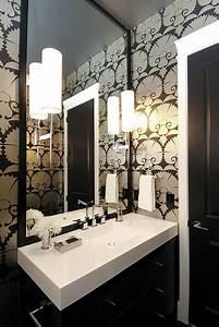 art deco wallpaper for the bathroom decoist With art deco black and white bathroom