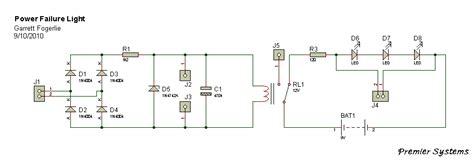 Very Simple Power Failure Light Electronics Lab