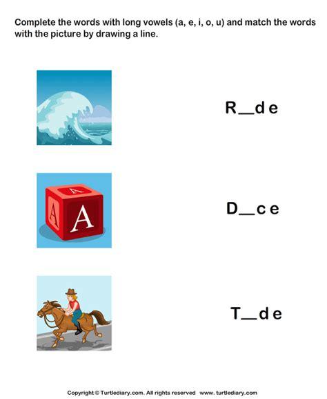 complete words  long vowel sound   match