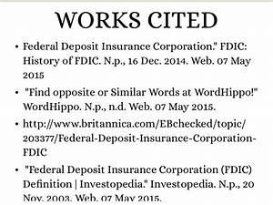 Federal Deposit Insurance Corporation by Ana Pavlovic