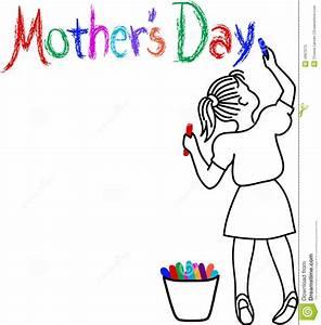 Mother's Day Girl stock vector. Illustration of ...