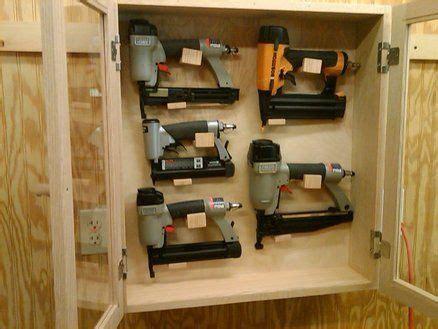 nail gun storage cabinet  garagewoodshop pinterest