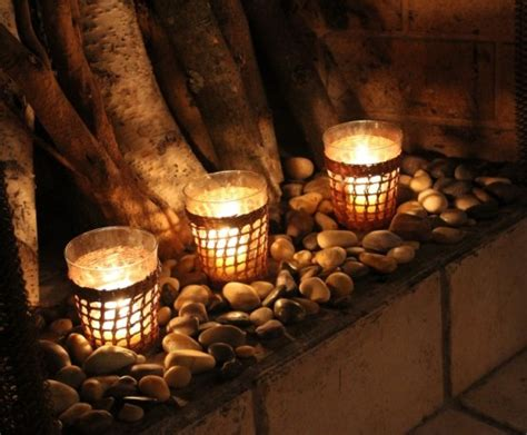 candle holder for inside fireplace 30 adorable fireplace candle displays for any interior digsdigs