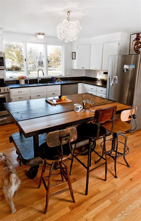 10 Practical, versatile and multifunctional rolling kitchen islands