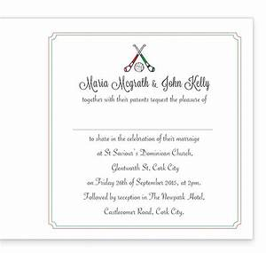 gaa folding wedding invitation limerick vs cork loving With inside wedding invitations rsvp