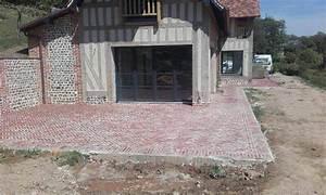 Terrasse en briques construction maison normande eure 27 for Amenagement exterieur terrasse maison 3 terrasse en briques construction maison normande eure 27