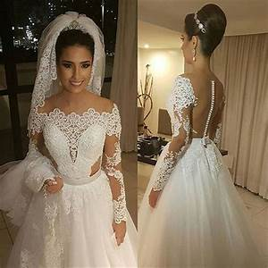 dramatic long sleeve lace wedding dresses sheer arbic With dramatic wedding dresses