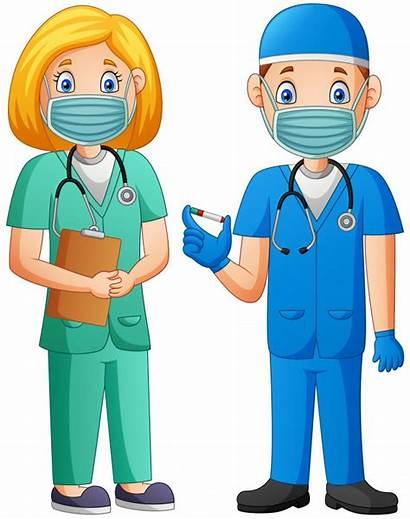Doctor Cartoon Vaccine Holding Premium Covid