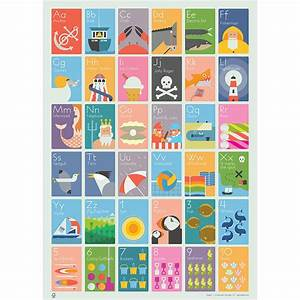 seaside alphabet and counting poster by andy tuohy design With letter photo art prints