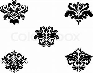 Flower patterns and borders for design and ornate   Stock ...