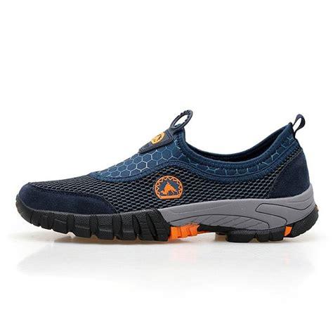 Sepatu Santai Ukuran 45 sepatu jala pria cocok untuk kaki sol lunak ukuran besar