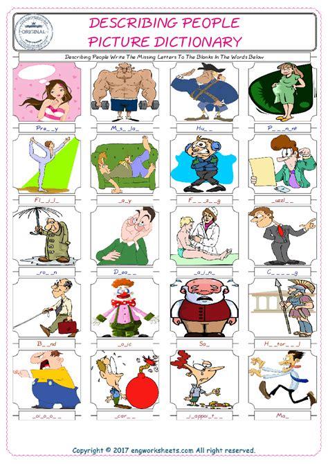 body parts esl printable vocabulary worksheets