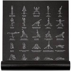 Instructional Yoga Mat 24 U0026quot  Wide X 68 U0026quot  Long  U2013 Newmefitness
