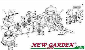 Exploded Transmission 102cm Tn185h Mower Lawn Mower