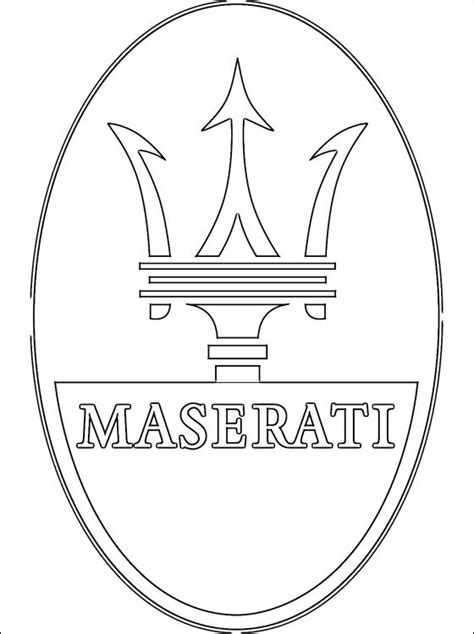 maserati logo coloring page coloring pages