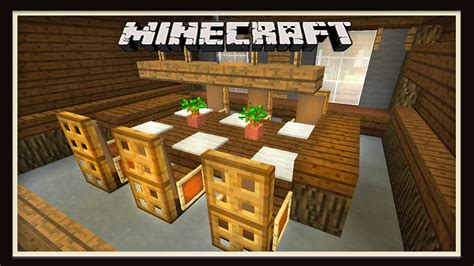minecraft dining room furniture design   build  house part  youtube