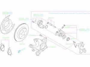 2018 Subaru Crosstrek Disc Brake Caliper  Right  Rear