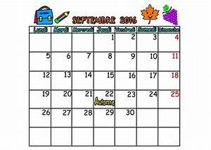 Calendrier Par Mois : calendrier 2016 mois septembre octobre novembre decembre ~ Dallasstarsshop.com Idées de Décoration