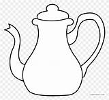 Coloring Teapot Tea Template Clipart Sheets Kettle Pot Clip Pages Wonderland Alice Silhouette sketch template