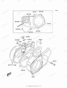 Kawasaki Atv 2003 Oem Parts Diagram For Engine Cover S