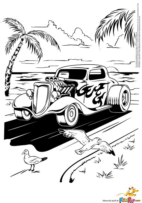 Hot Rod Coloring Page Free Printable Coloring Pages