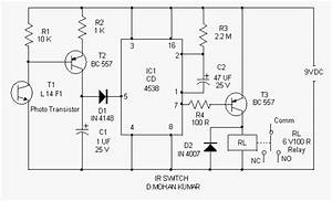 sensitive ir switch circuit With 2 channel ir relay controller