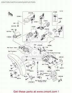 Kawasaki Vn1500p1 Vulcan 1500 Meanstreak 2002 Usa California Canada Ignition Switch  Locks