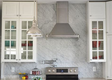 the of tumbled marble backsplash great home decor