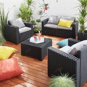 Salon Jardin Rotin : salon de jardin rotin tress ides ~ Melissatoandfro.com Idées de Décoration