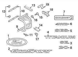 2018 Ford Ecosport Kit - Housing   Upper   W  Spare Tire Carrier