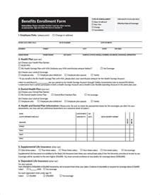 Employee Benefits Enrollment Form Templates