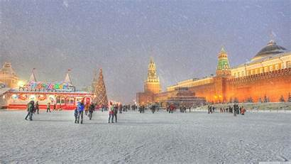 Moscow Winter Russia Holidays Square Uhd