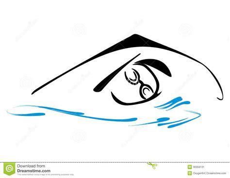 clipart nuoto simbolo di nuoto immagine stock immagine 30359131
