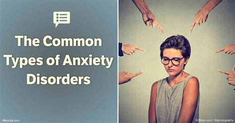 common types  anxiety disorders