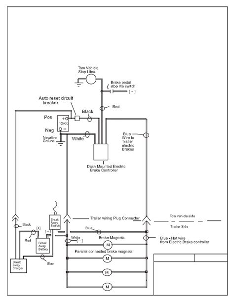 Electric Trailer Brake Wiring Schematic Free Diagram