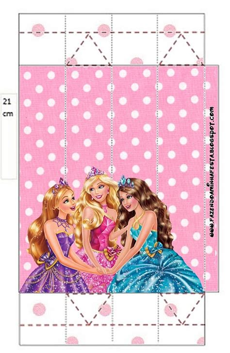 barbie princess school  printable boxes