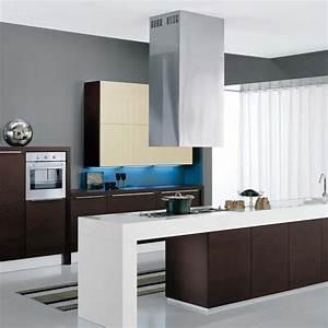 Hotte Pour Ilot Central : hotte lot rectangulaire altair top 60cm aspiration ~ Melissatoandfro.com Idées de Décoration