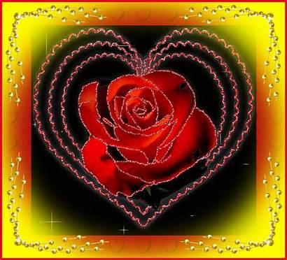 Coeur Rose Rouge Gifs Belle Avec Anime