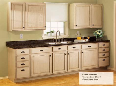 Rust Oleum Linen Glazed Cabinets & Java Stone Countertops