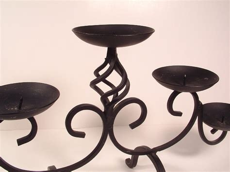 wrought iron candle holders 3 tier wrought iron 5 light pillar candle holder candle