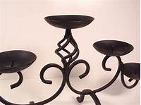 wrought iron candle holder 3 Tier Wrought Iron 5-Light Pillar Candle Holder - Candle ...