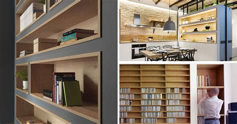 8 Inspirational Examples Of Built-In Shelves Lined With