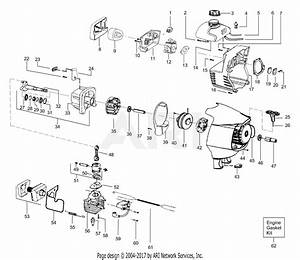 Poulan Pp033 Gas Trimmer  033 Gas Trimmer Parts Diagram For Engine Assembly