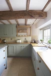 deco salon poutre en bois massif pour la cuisine moderne With decoration pour cuisine en bois