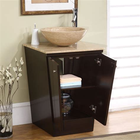 "Silkroad Exclusive Petite 22"" Modern Single Sink Bathroom"